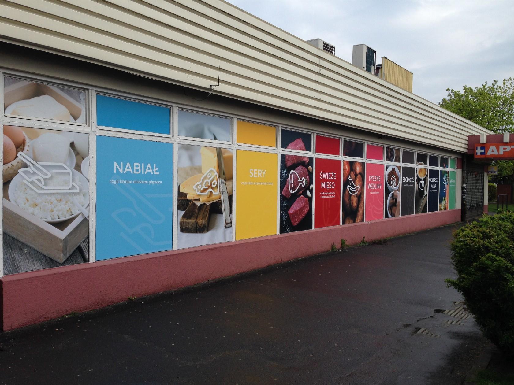oklejanie witryn sklepowych nicoart wrocław