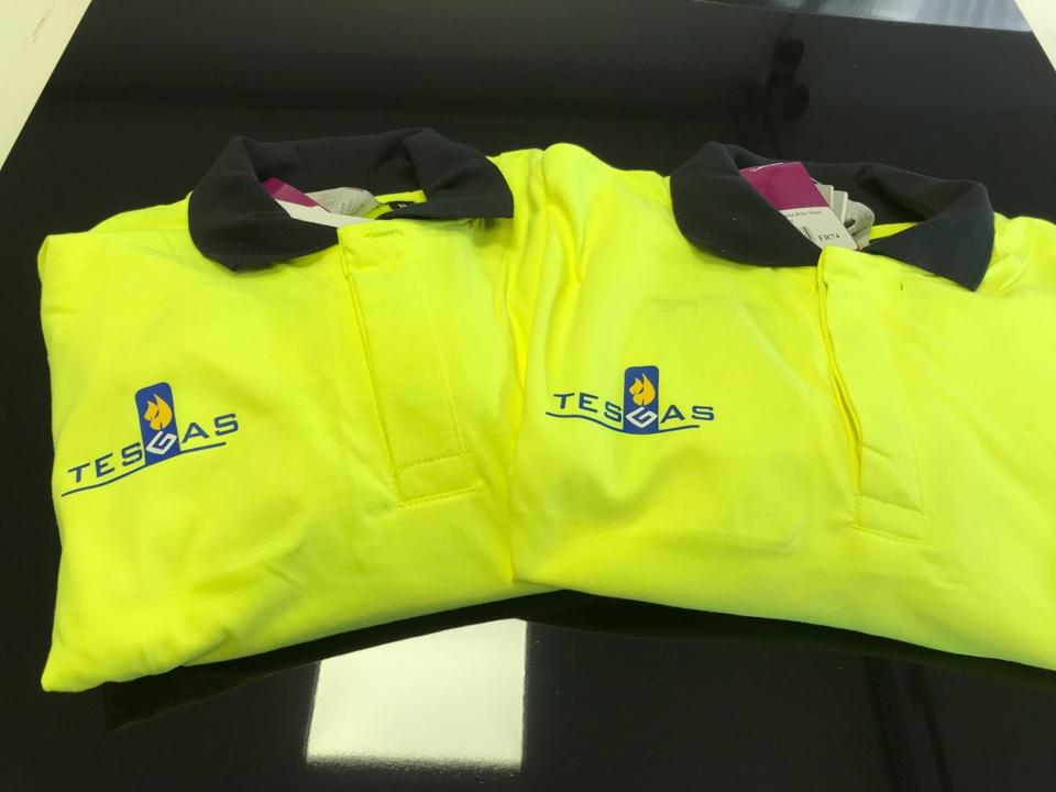 Oznakowanie odzieży dla firmy Tes gas